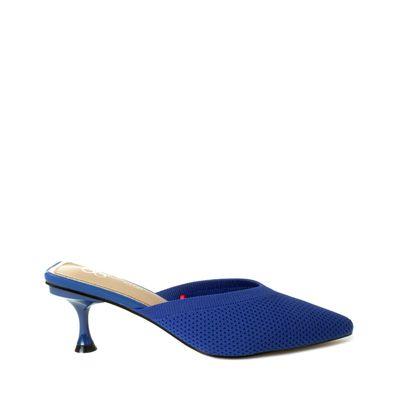 Mule Puntal De Mesh Color Azul Eléctrico