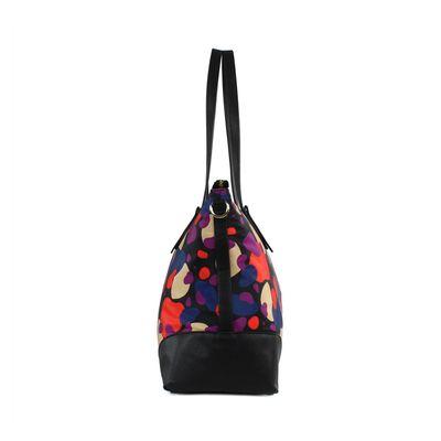 Bolsa Tote Oversize de Nylon en Color Multicolor