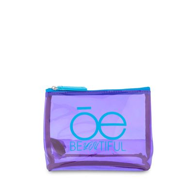 Cosmetiquera Material Transparente en Color Morado