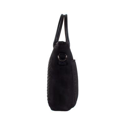 Bolsa Tote con Porta Laptop de 15 Pulgadas en Color Negro
