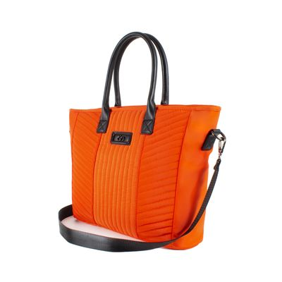 Bolsa Tote con Porta Laptop de 15 Pulgadas en Color Naranja