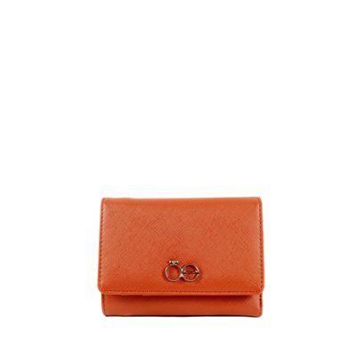 Billetera Flap Mediana Color Naranja