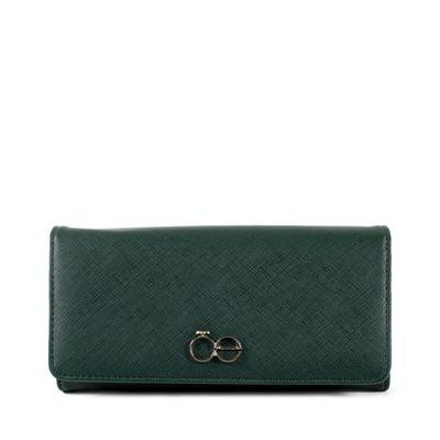 Billetera Flap Grande Color Verde