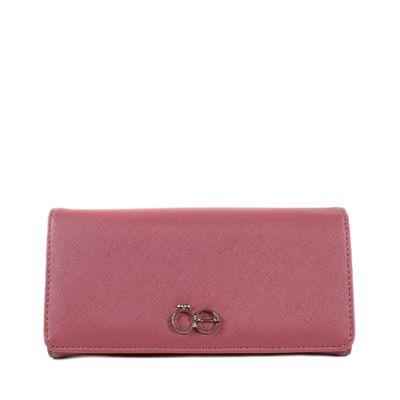 Billetera Flap Grande Color Rosa