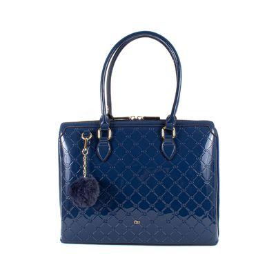 Bolsa Porta Laptop De Charol Color Azul