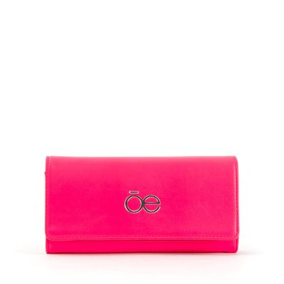 Cartera Flap Neón en Color Rosa