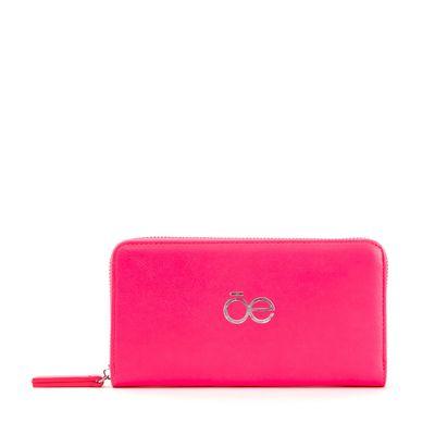 Cartera Cierre Sencillo Neón en Color Rosa
