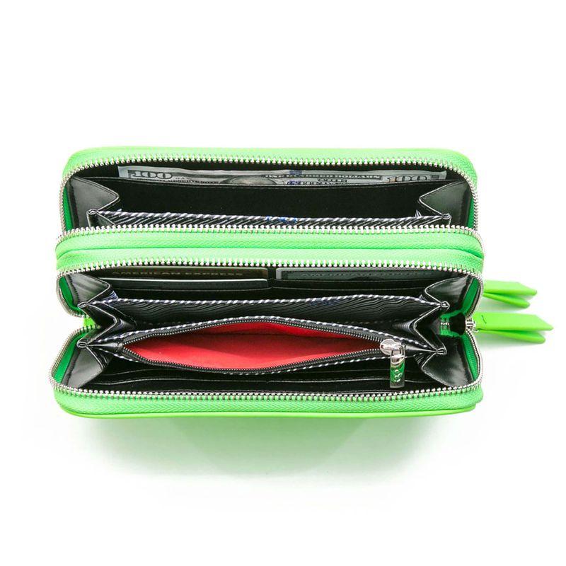 Cartera-Cierre-Doble-Neon-en-Color-Verde-|-Cloe