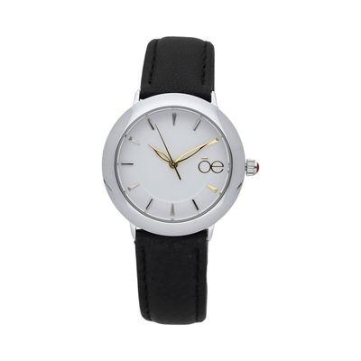 Reloj Casual Y De Corte Minimalista Con Extensible De Piel Genuina.