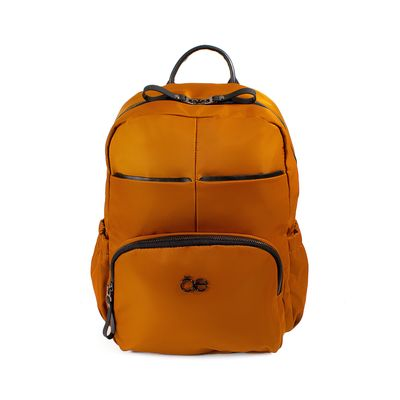 Mochila De Nylon Color Camel