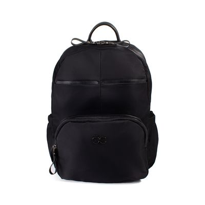 Mochila De Nylon Color Negro