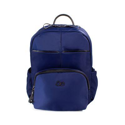 Mochila De Nylon Color Azul Marino
