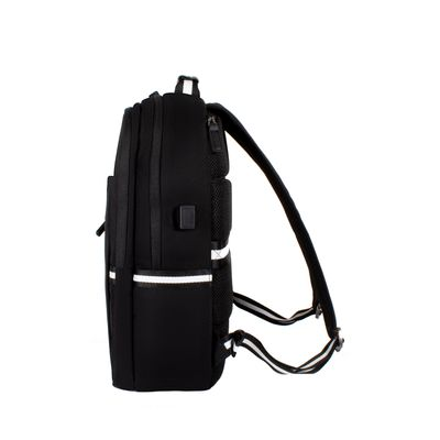 "Mochila Porta Laptop De 14"", Color Negro"