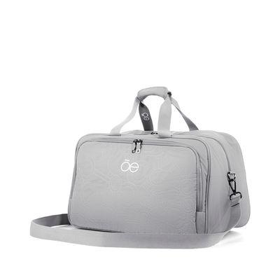 Duffle Bag De Nylon Color Gris
