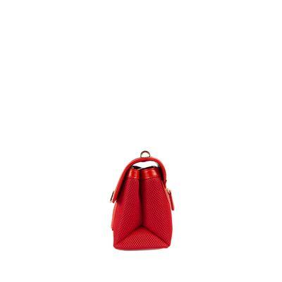 Bolsa Briefcase Acabado Mesh Color Rojo