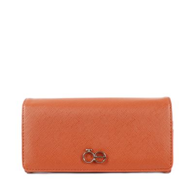 Billetera Flap Grande Color Naranja