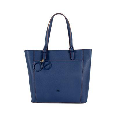 Bolsa Tote Grande Color Azul