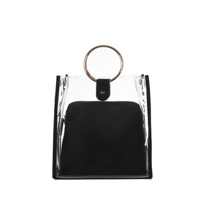 Bolso Satchel 2 En 1 Color Negro