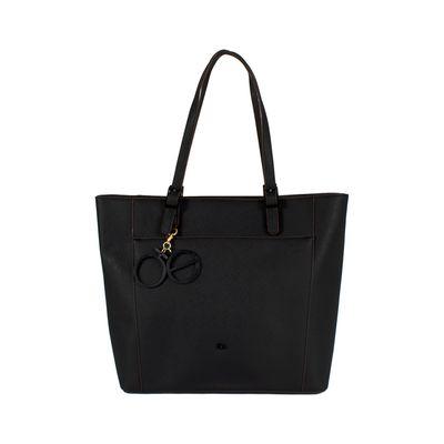 Bolsa Tote Grande Color Negro
