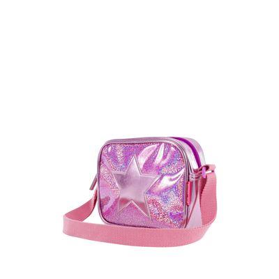 Bolsa Crossbody Mediana Con Estrella Metálica Color Rosa