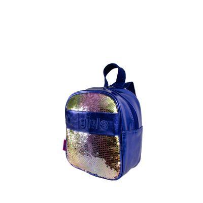 Mochila Con Aplicación De Lentejuela Color Azul