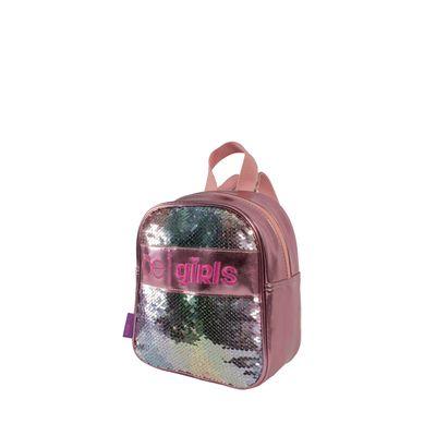Mochila Con Aplicación De Lentejuela Color Rosa