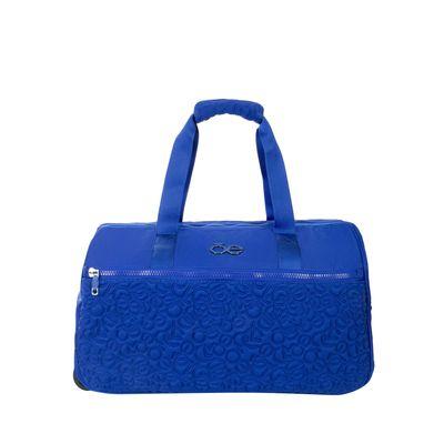 Duffle Bag Con Ruedas Color Azul Eléctrico