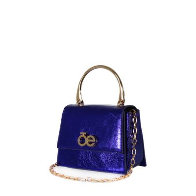 Bolsa Briefcase Metálica Color Azul Eléctrico