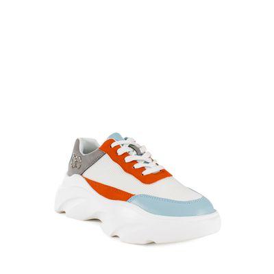 Tenis Suela Chunky Color Naranja