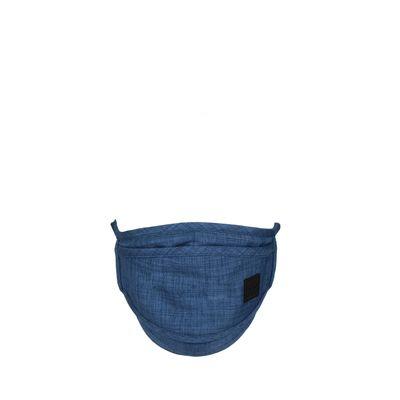 Cubrebocas Con 4 Capas De Protección Ajustable Color Marino