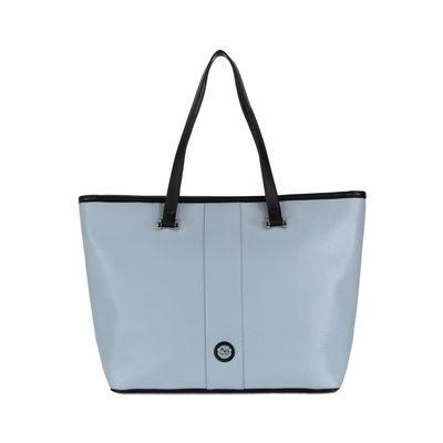 Bolsa Tote Grande Look Saffiano Color Azul Celeste