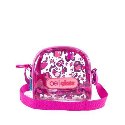 Bolsa Crossbody Chica De Mica Color Rosa