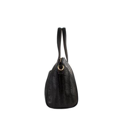 Mochila Cloe Mediana De Nylon Color  Negro