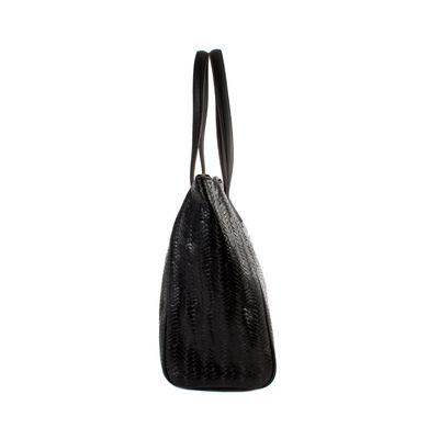 Bolsa Tote Cloe Grande De Nylon Color Negro