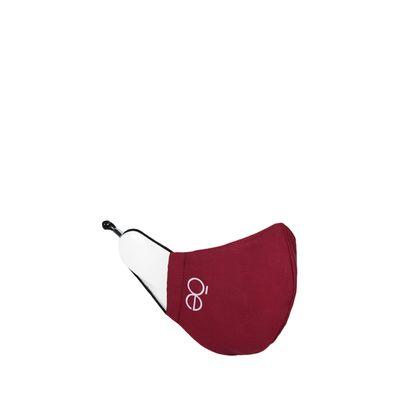 Cubrebocas Con 4 Capas De Protección Ajustable Color Rojo Tinto