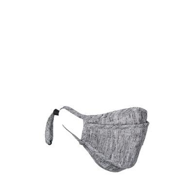 Cubrebocas Con 4 Capas De Protección Ajustable Color Gris