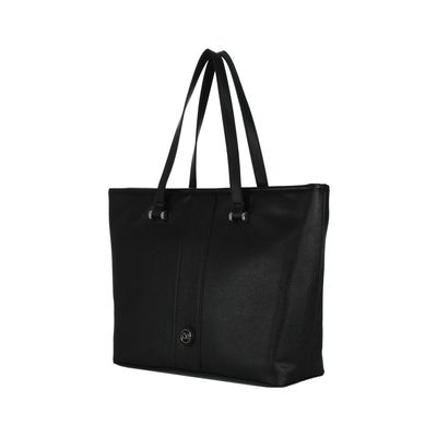 Bolsa Tote Grande Look Saffiano Color Negro