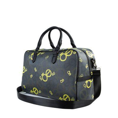 Duffle Bag Grande Con Print Color Negro