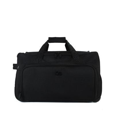 Duffle Bag Mediano Con Ruedas Color Negro
