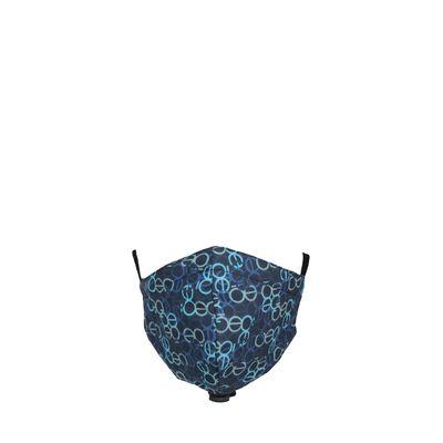 Cubrebocas Doble Vista Con 4 Capas De Protección Ajustable Color Azul