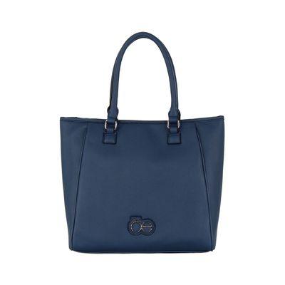 Bolsa Satchel Grande Con Asa Larga Adicional Color Azul