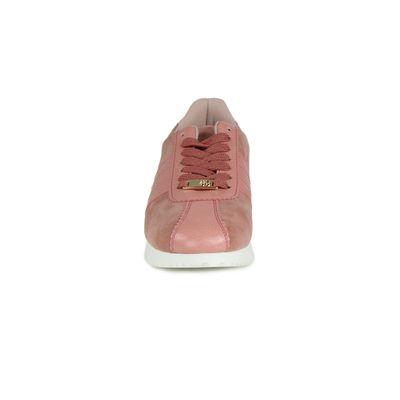 Sneakers Con Detalle De Piel