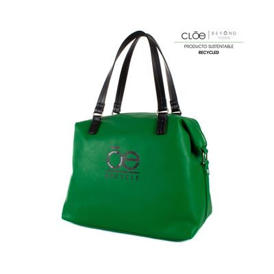 Bolsa Satchel de Material Reciclado Color Verde