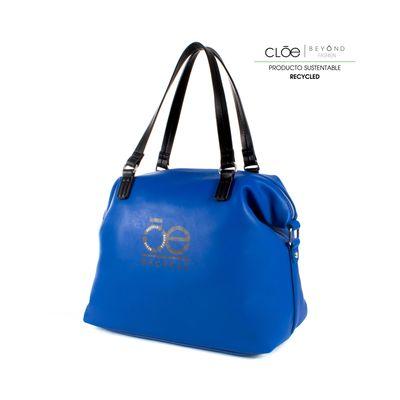Bolsa Satchel de Material Reciclado Color Azul Eléctrico