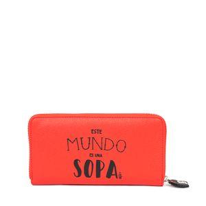 Cartera Grande Cierre Sencillo Mafalda X Oe Color Rojo