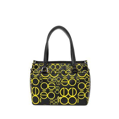 Bolsa Satchel Estampado Color Amarillo