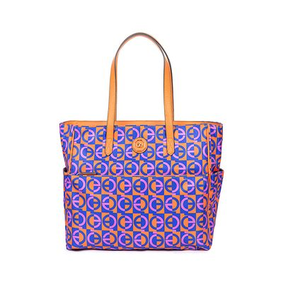 Bolsa Tote Nylon Estampado Multicolor