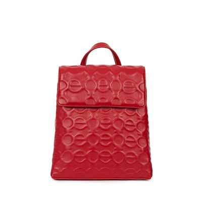 Mochila Material Alto Relieve Color Rojo