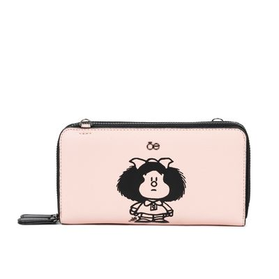 Cartera Grande Cierre Sencillo Mafalda X Oe Color Nude