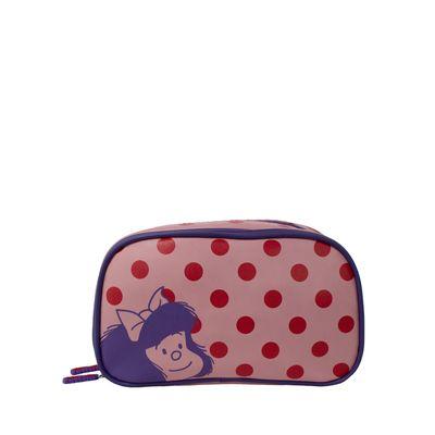 Cosmetiquera Doble Compartimento Lunares Mafalda X Oe Color Rosa